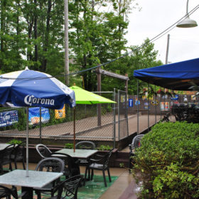Outdoor Patio and Bocce Ball