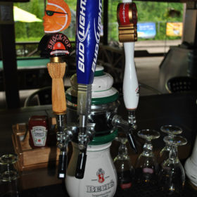Seasonal Beers on tap as well as regular domestic beers